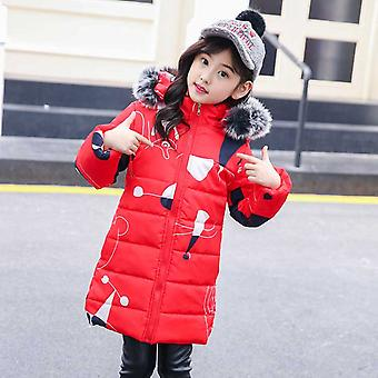 Turkki - Venäläinen talvi lämmin hupullinen, paksu puuvilla-pehmustettu, pitkä korealainen takki