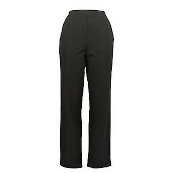 "Antthony Women's Pants ""Metallic Stars"" Tuxedo Satin Trim Black 727329"