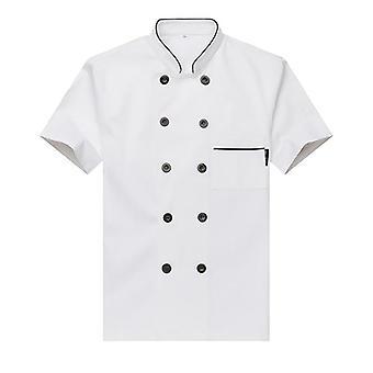 Ilmainen logon painaminen Unisex Chef Uniform Food Service Cook Jacket Coat