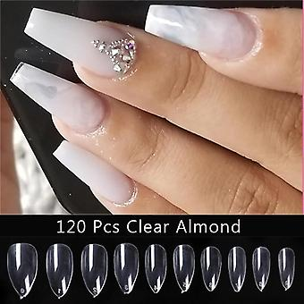 False Clear Practice Display Nail Natural Transparent Finger Full Acrylic Tips