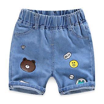 Crianças Summer Casual Hole Jeans Cute Cowboy Denim Pants