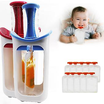 Fruit Food Squeeze Station Baby Fresh Fruit Juice Food Maker Pouch Puree