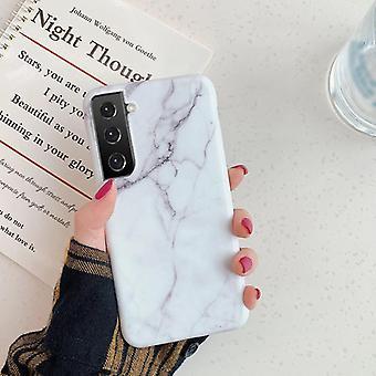 Samsung Galaxy S21 |Pehmeä marmorikotelo
