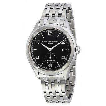Baume and Mercier Clifton Black Dial Stainless Steel Men's Watch 10100