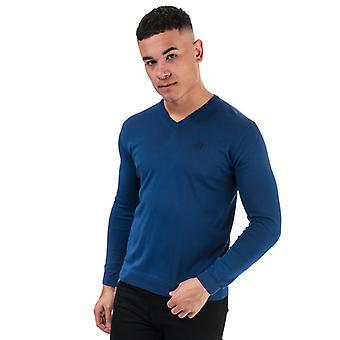 Män & apos;s Henri Lloyd Cotton V-Neck Jumper i blått