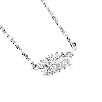 Pingente de colar de prata esterlina - Pena de Pavão origens