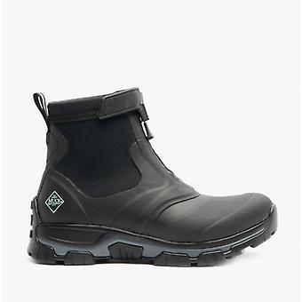 Muck Boots Apex Mid Zip Mens Rubber Waterproof Boots Black