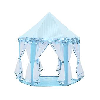 3 PCS Kannettavat lapset Princess Girl Castle Teltta Leikki talo Lapset Pieni Taittuva Baby Beach Telttatalo (Sininen)