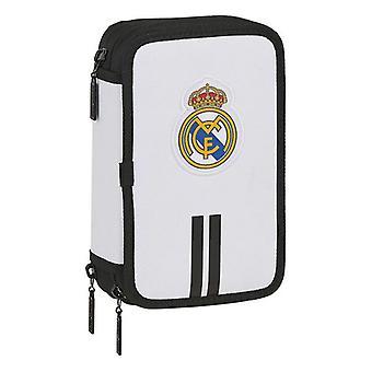 Caja de triple lápiz Real Madrid C.F. Blanco Negro (36 Piezas)