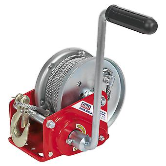 Sealey Gwc2000B Geared Hand Winch With Brake And Cable 900Kg Capacity