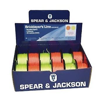Keihäs ja Jackson SJUK-50M-8OY sekoitettu oranssi/keltainen 50M tiili linjat 12 kohtaan