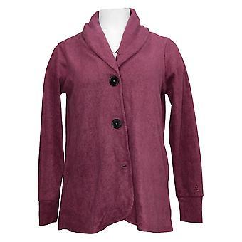 Cuddl Duds Women's Sweater Fleecewear Stretch Cardigan Violet A369667