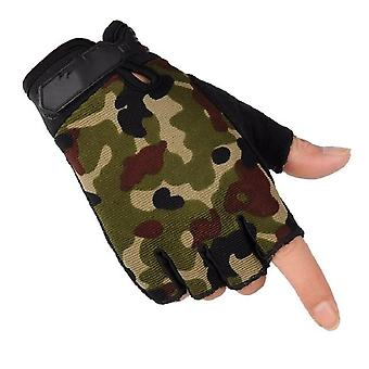 Men's Sport Tactical Gloves Fingerless Army Lightweight