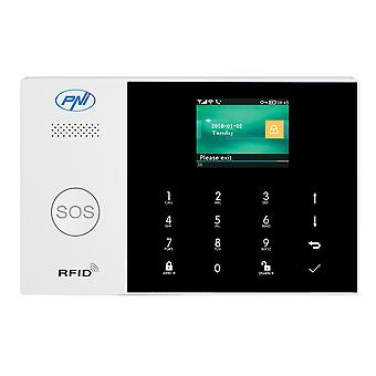 PNI SafeHouse HS600 Wifi GSM 4G wireless alarm system, supports 90 wireless zones and 3 wired zones, compatible with Tuya Smart application, SMS alert, voice call, phone notification