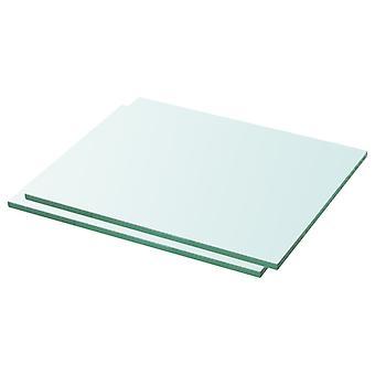 vidaXL hyllyt 2 kpl. lasi Läpinäkyvä 30 x 20 cm