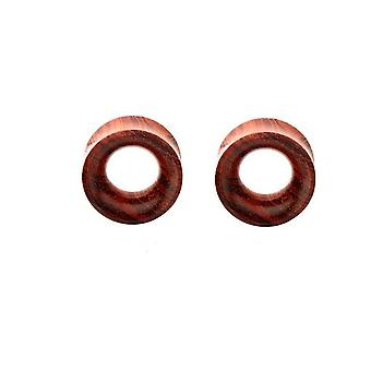 Tunnels organic sawo wood flared sold as a pair large gauge - wholesale