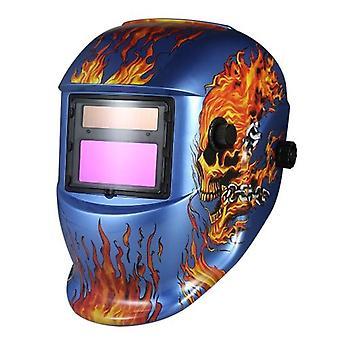 Industrial Welding Helmet Solar Power Auto Darkening Welding Helmet TIG MIG Mask Skull Grinding Design