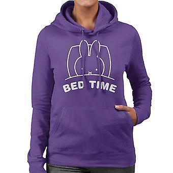 Miffy Bed Time Women's Hooded Sweatshirt