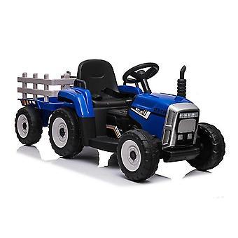 Tractor eléctrico ride-on – Azul – Con remolque