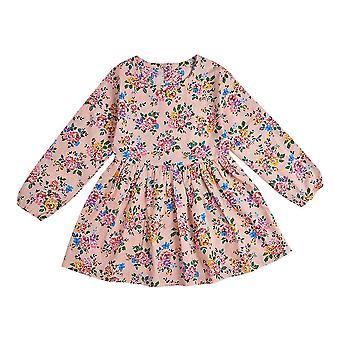 Spring Girl Dress Cotton Long Sleeve Polka Dot Girls Dress