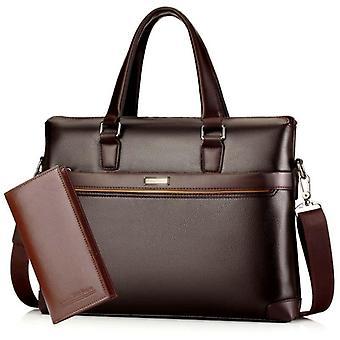 Male Messenger Bag Sets, Men Briefcase For Document, Laptop