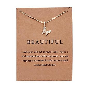 Beautiful necklace with butterfly 18K gold plated gift beautiful