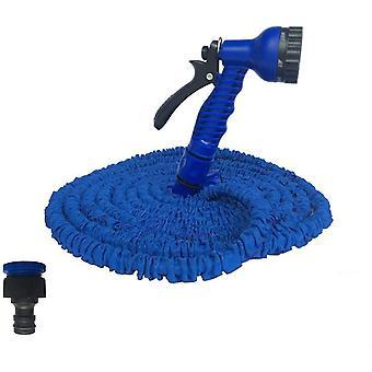 الأزرق 50ft أنابيب خراطيم قابلة للتوسيع مع بندقية رذاذ لحديقة سقي مجموعة غسيل السيارات 25ft-175ft cai1502
