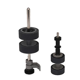 2xPrinter Pick Roller Teil mit Achsenersatz für PA03540 0001 Grau
