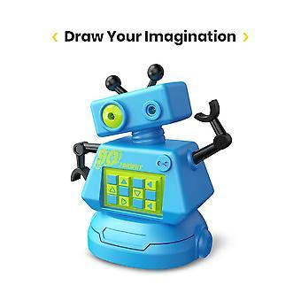 Deerc الروبوتات طفل ألعاب للبنين أو الفتيات مسار تتبع الروبوتات للأطفال الروبوت خط سحرية مع القلم الذكي وباب