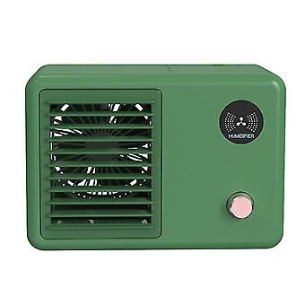 Desktop mini humidifier, USB air conditioner, air cooler(Green)