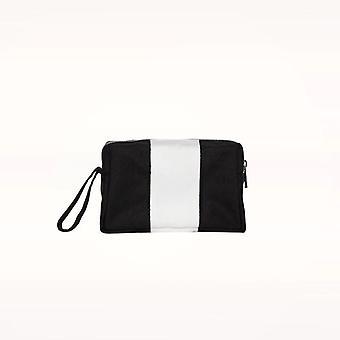 Den lille Travel White Makeup Bag til kvinder PortableToiletry Bomuld fyldes op pose med håndtag