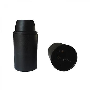 Black Smooth Thermoplastic Lampholder