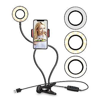 מחזיק טלפון LED סלפי צלצול הבזקי טלפון אור