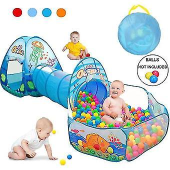 barn baby lekehus telt tunnel ball basseng pop up barn innendørs utendørs leker (baller ikke inkluderer)