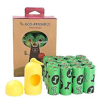 16 Rolls Of Epi Biodegradable Pet Poop Garbage Bag With Dispenser(Green)
