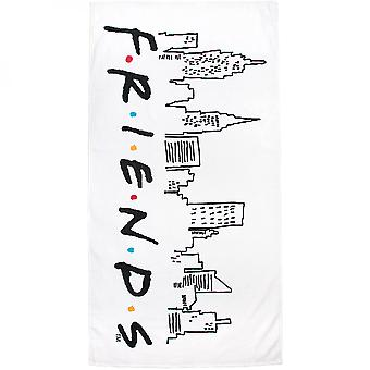 Amis Cityscape Logo Grande serviette de plage