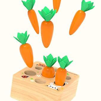Dřevěné hračky Montessori tvar třídění Puzzle