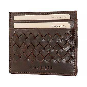 bugatti Herren Kreditkartenetui Kartenetui Lederetui Braun 8751