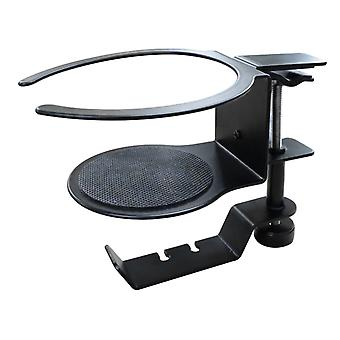 Headphone Hanger Arm Clamp Headphone Hook Non-perforated Coffee Cup holder