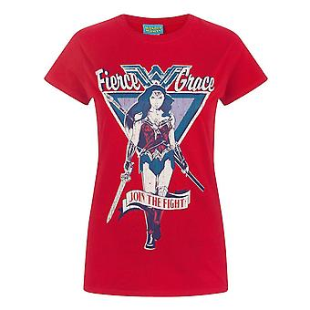 Wonder Woman Womens/Ladies Join The Fight T-Shirt