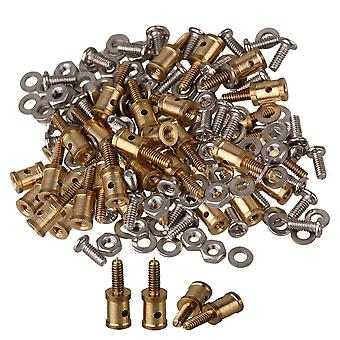 Remote control toy accessories 40pcs golden adjustable model plane and boat servo horn linkage connectors