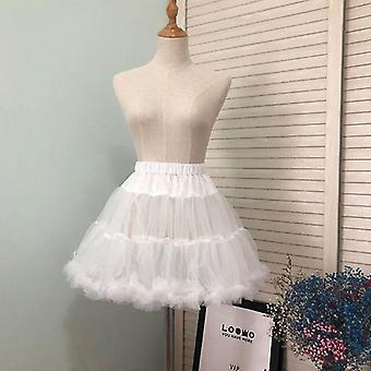 Jenter Ruffled Kort Petticoat Solid Fluffy Boble Tutu Skjørt Puffy Halv Slip