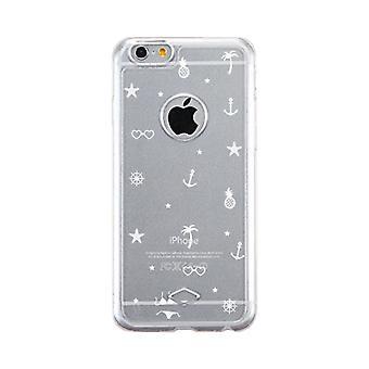 Apple iPhone 6 6S gennemsigtig indridse resistent telefon dække (sommer mønster)
