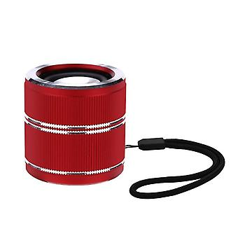 Super mini draadloze Bluetooth luidspreker draagbare kwaliteit 3D stereo TWS interconnect luidsprekers (rood)
