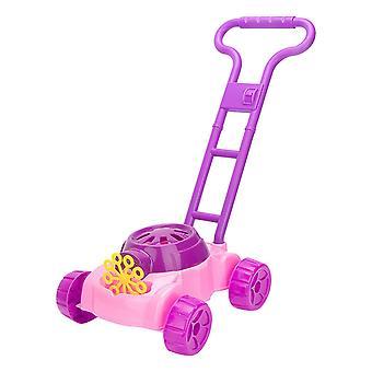 בועה מכונת צעצועים לבנים בנות, מכסחת דשא בועה עם פתרון בועה 118ml (סגול)