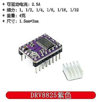 100Pcs 3d impresora 3d piezas stepstick a4988 drv8825 módulo controlador de motor paso a paso con disipador de calor reprap