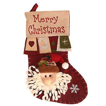 Miigo Bas de Noël, bonhomme de neige, renne, personnage de Noël 3d peluche avec fausse fourrure manchette Décorations de Noël et accessoire de fête pour la décoration intérieure