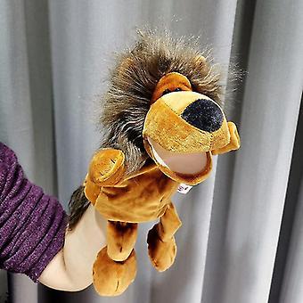 Plyšový lev toy hand bábkový príbeh puzzle príbeh Bábika