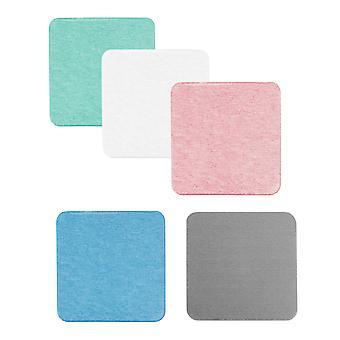 5 unids colores sólidos costaleros de tierra diatomeas, esteras de bebidas absorbentes, protección de todas las superficies de la mesa incluyendo madera, vidrio, mármol, piedra, plato de jabón en B