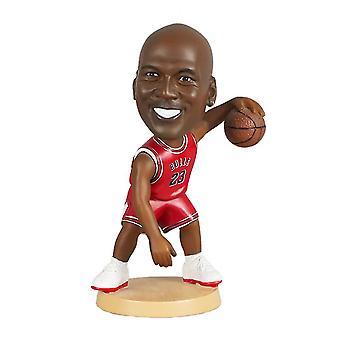 Caraele Michael Jordan Figurine d'action Statue Bobblehead Basketball Doll Décoration